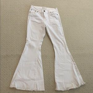 Free people white flare jeans